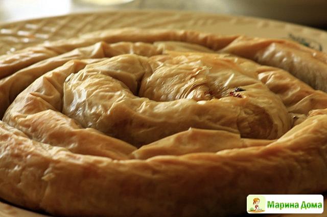 Пироги из теста фило рецепт
