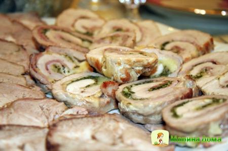 Рулет из свинины – холодная закуска