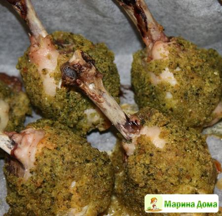 Куриные голени в ароматной панировке с стиле чупа-чупс