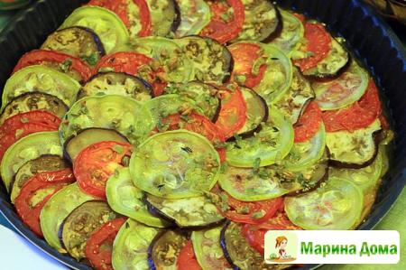 Баялды (овощная запеканка-рататуй)