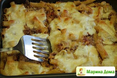 Блюдо выходного дня - Запеченные макароны с пряной говядиной и рагу из колб ...