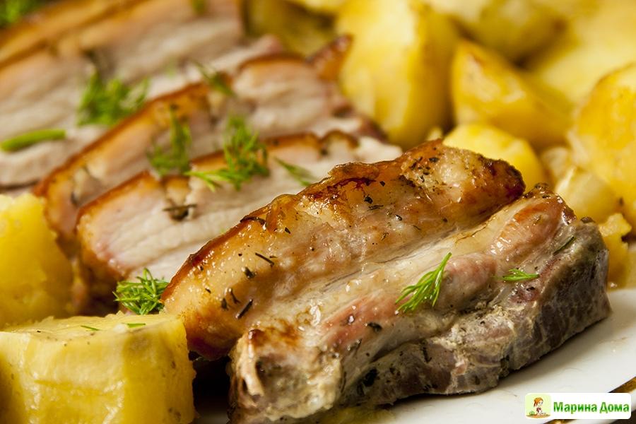 рецепты приготовления свиной грудинки с фото