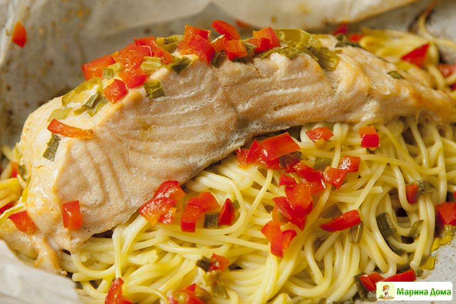 Рыба лапша рецепт с фото
