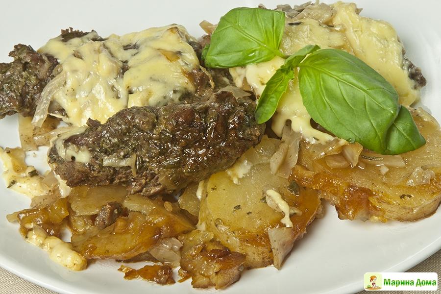 Мясо картошка капуста рецепт духовка