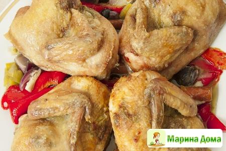 Цыплята, запеченные в средиземноморском стиле
