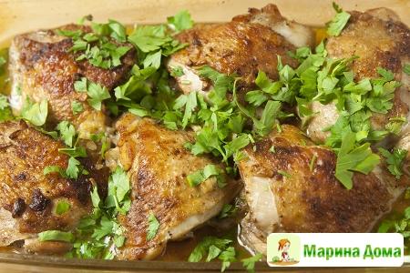 Чесночная курица в испанском стиле