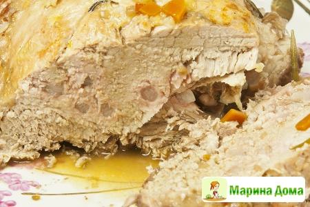 Шпигованная свинина (пошаговый рецепт)