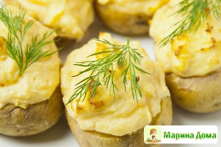 Суфле, запеченное в картофеле