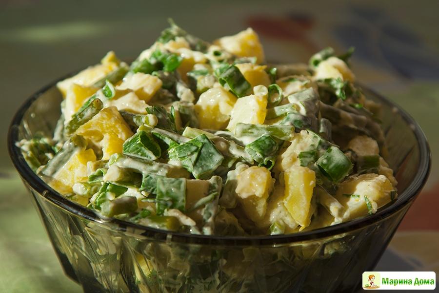 Острый картофельный салат рецепт фото
