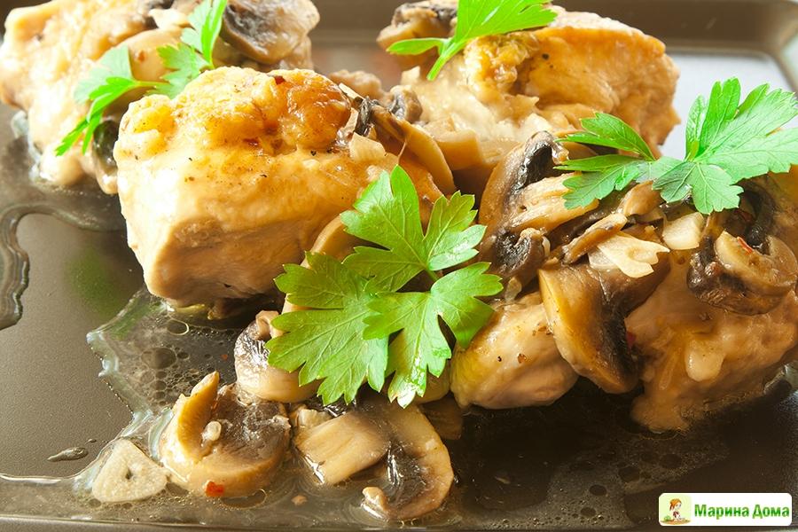 курица на сковороде рецепты с картофелем