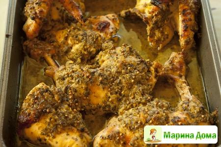 Курица в маринаде мохито