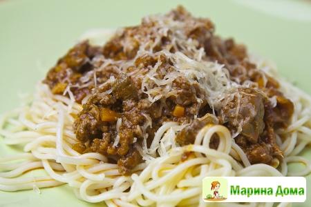 Спагетти с рагу  болоньезе