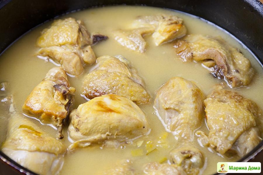 Рецепт из куриного филе с макаронами 136
