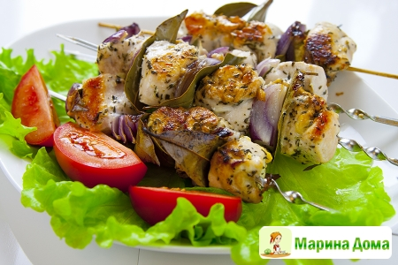 Куриные шашлычки по-гречески