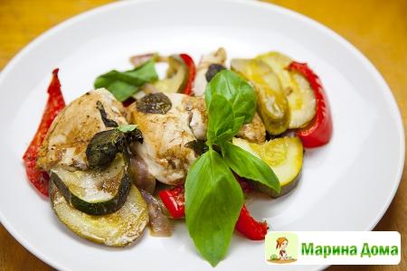 Курица с овощами в конверте