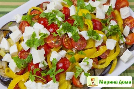 Салат из баклажанов  почти  в итальянском стиле