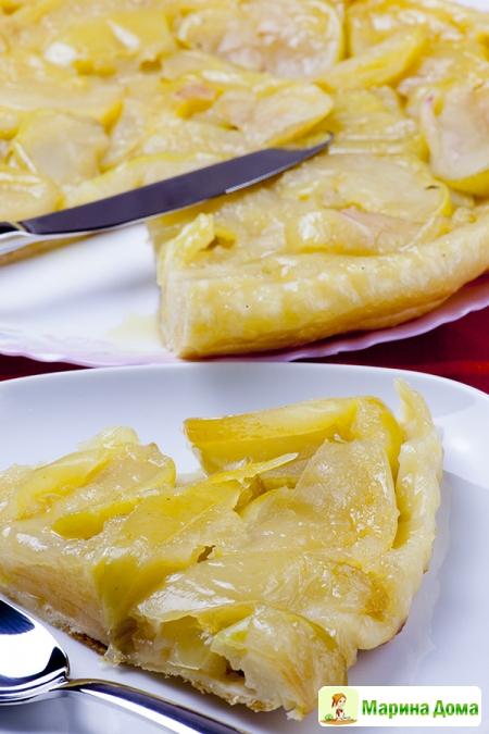 Тарт- татен с яблоками (Антоновка)