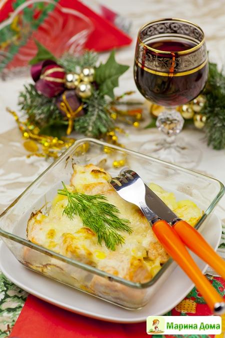 Семга с картофелем -  праздничный вариант