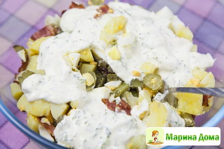 Салат из картофеля по-немецки