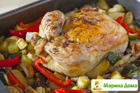 Запеченная курица в прованском стиле