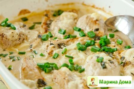 Куриные грудки с сыром с голубой плесенью