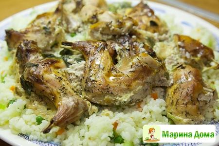 Кролик с рисом и овощами