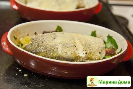 Треска с картофелем и беконом в формах  (пошаговый рецепт)