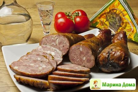Колбаса из голеней индейки – варено-копченая