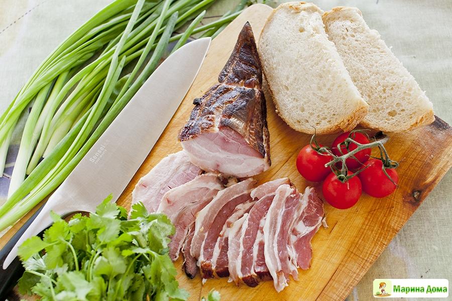 Что приготовить из копченой свиной грудинки рецепты с фото