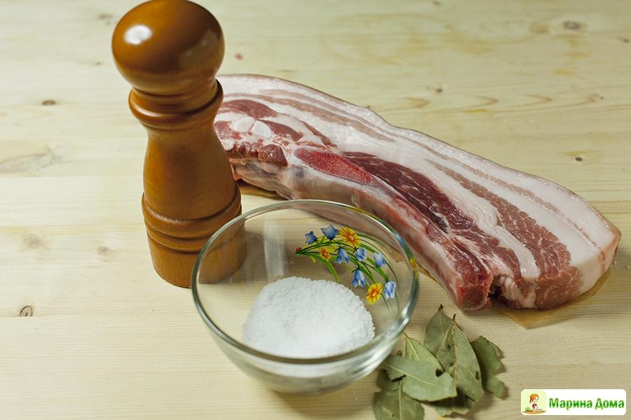 Как приготовить сало горячим способом дома