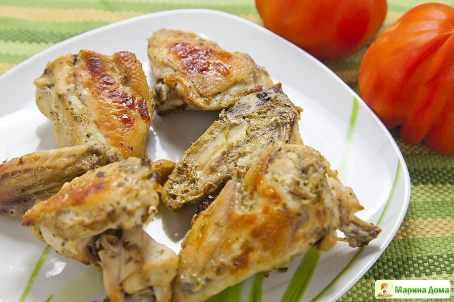 рецепт кусочки курицы в духовке с корочкой