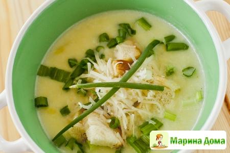 Суп-пюре картофельный с луком