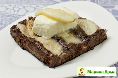 Пирог из груш с шоколадом