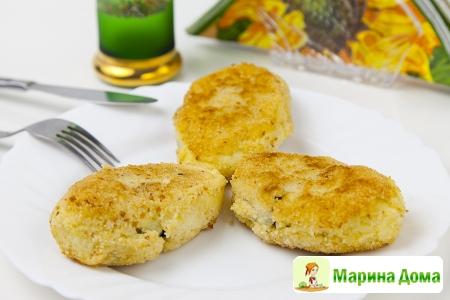 Картофельные зразы с маринованными грибами