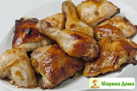 Курица в медовой глазури (маринад для запекания)