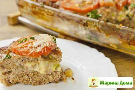 Мясная запеканка с сыром (мясная пицца)