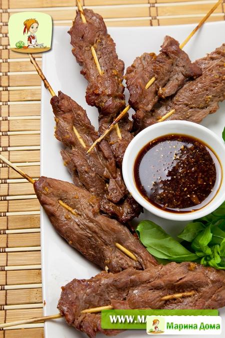 Говядина-гриль (мангал)  в японском стиле Начинаю размещать рецепты из моей ...