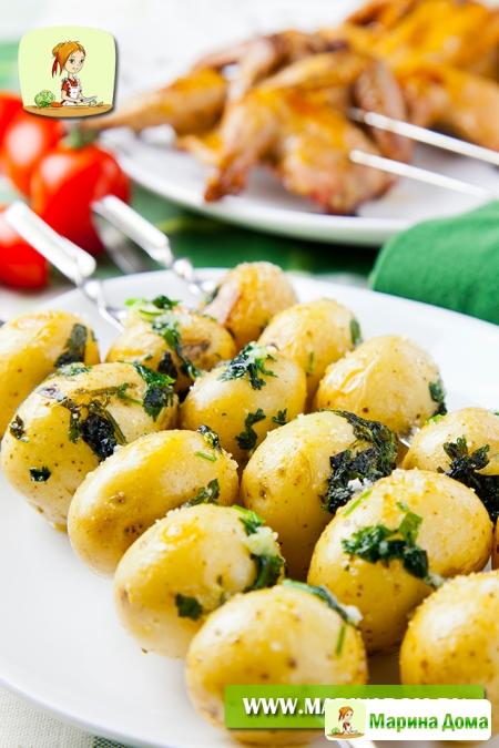 Картофель на шампурах. Рецепт из моей книжки