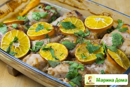Курица с мандаринами (клементинами)