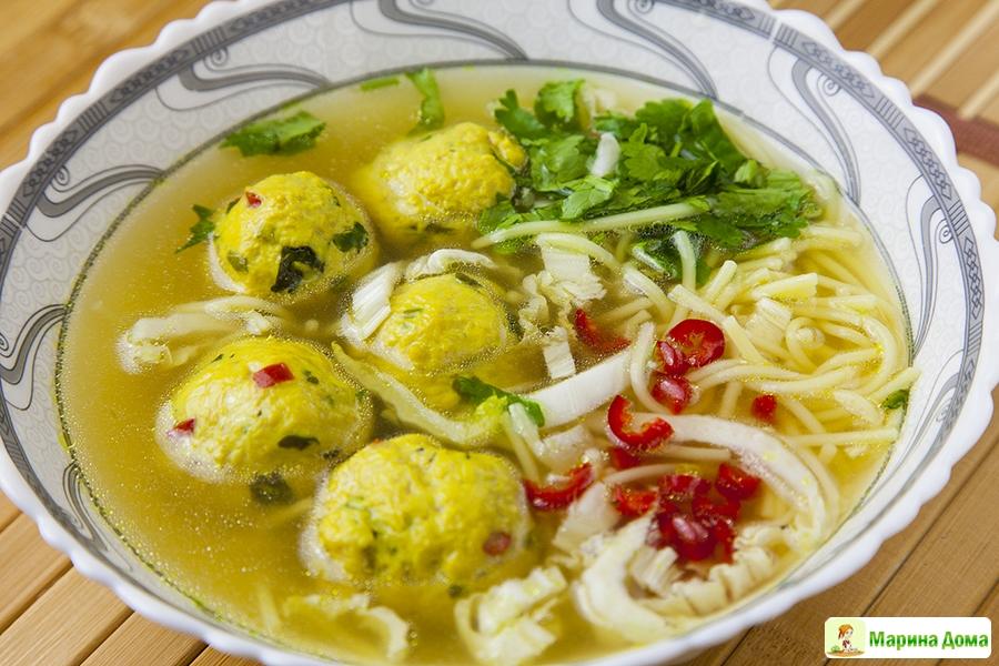 рецепты суп с шампиньонами и фрикадельками