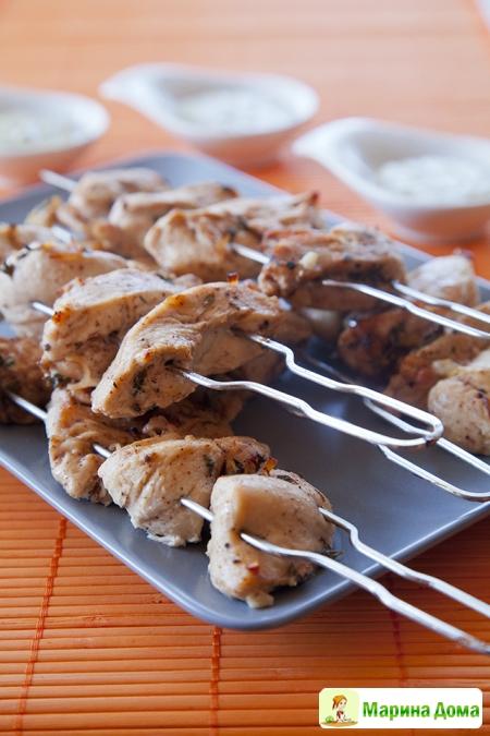 Шашлычки из курицы. Рецепт из моей книжки