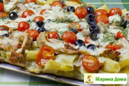 Запеканка - пицца из макарон