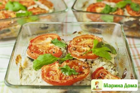 Порционная запеканка из овощей с рикоттой