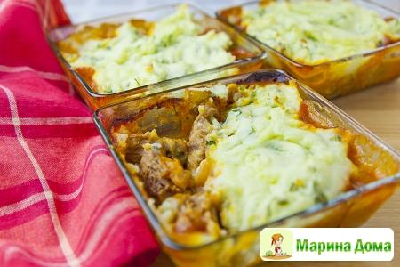 Говядина с горчицей и картофельной корочкой