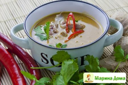 Суп с тыквой в азиатском стиле