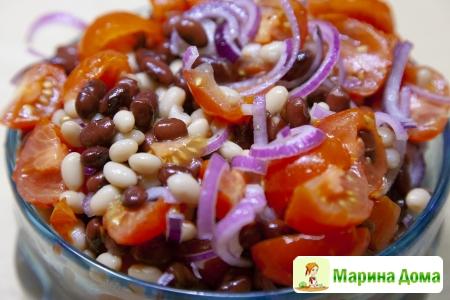 Быстрый салат с фасолью